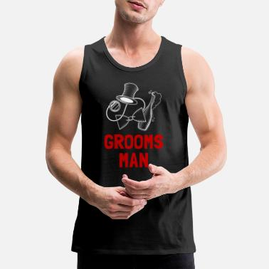 Wedding Party Groomsman Wedding Party - Men's Premium Tank Top