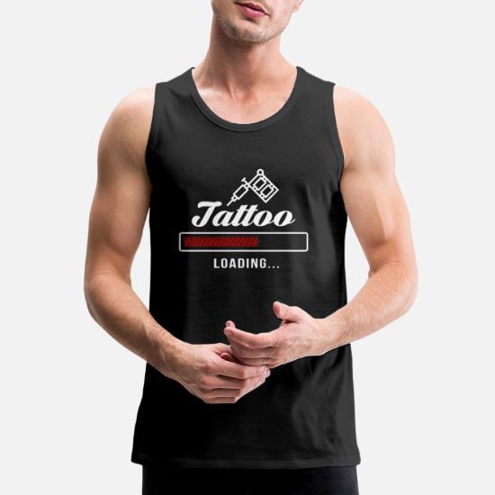 9704a010 Tattoo Loading tattoos inked Men's Premium Tank Top | Spreadshirt