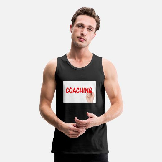 Coach Tank Tops - coaching - Men's Premium Tank Top black