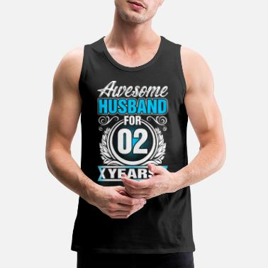 Husband Awesome Husband for 02 Years - Men's Premium Tank Top