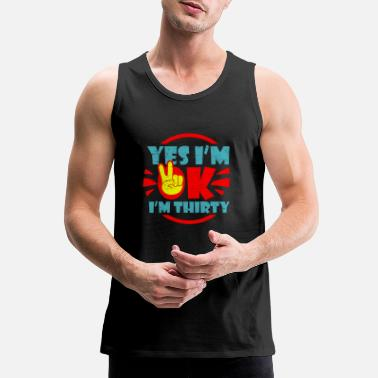 Hipster 30th Birthday - Men's Premium Tank