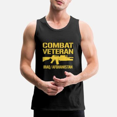 War Combat Veteran Iraq and Afghanistan - Men's Premium Tank Top
