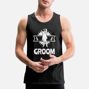 Wedding Party Groom Wedding Party - Men's Premium Tank Top