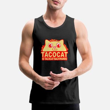 Backwards Tacocat Backwards - Men's Premium Tank Top