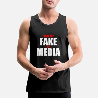 Fake Shut The Fake Up Media - white - Men's Premium Tank Top