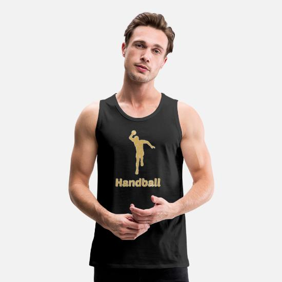 Handball Player Tank Tops - Handball Handballer - Men's Premium Tank Top black