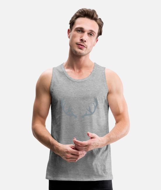 Stag Tank Tops - Deer antlers - Men's Premium Tank Top heather gray
