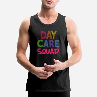 Staff Daycare Squad Pink Light Gift Home Child Care Provider Teacher Gift - Men's Premium Tank