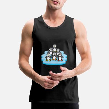 Penguin Party Antarctica Zoo Animal Love Zookeeper - Men's Premium Tank