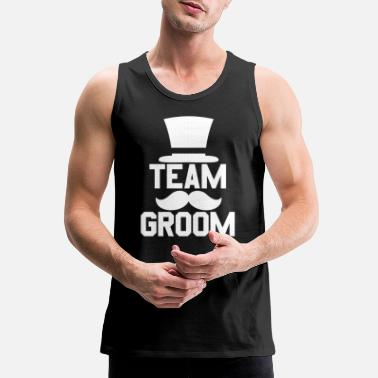 Stag Team Groom - Bachelor Stag Night Party Alcohol - Men's Premium Tank Top