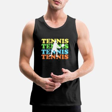 Tennis with colored font - Men's Premium Tank Top