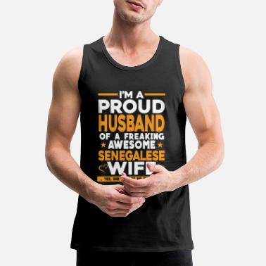 Proud Senegalese - I'm a Senegales proud husband t - s - Men's Premium Tank Top