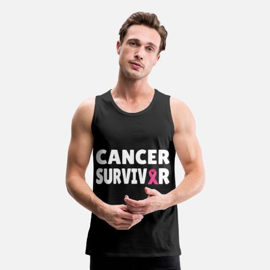 Cancer Tank Tops - Breast Cancer: Cancer Survivor - Men's Premium Tank Top black