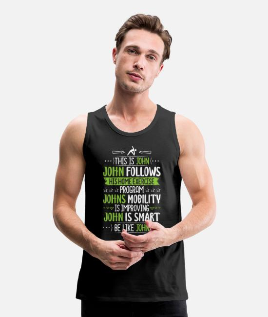 Therapy Tank Tops - Physical Therapy Physical Therapist Physiotherapy - Men's Premium Tank Top black