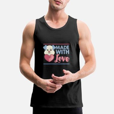 Made with LOVE, baby bear with big heart. - Men's Premium Tank Top