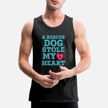 A Rescue Dog Stole My Heart - Men's Premium Tank Top