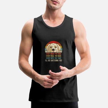 Meal Retro Labrador Every Snack You Make Every Meal You - Men's Premium Tank Top