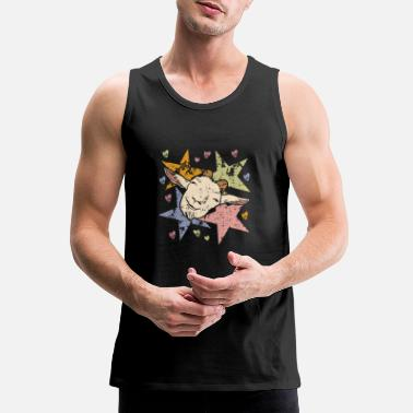 Breeder funny goat with stars and hearts - Men's Premium Tank Top