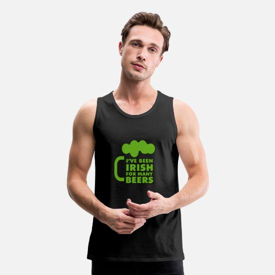 Irish Tank Tops - Funny Irish Beer - Men's Premium Tank Top black