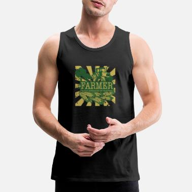 Distracted Tractors Farmer Easily Distracted By Tractors - Men's Premium Tank Top