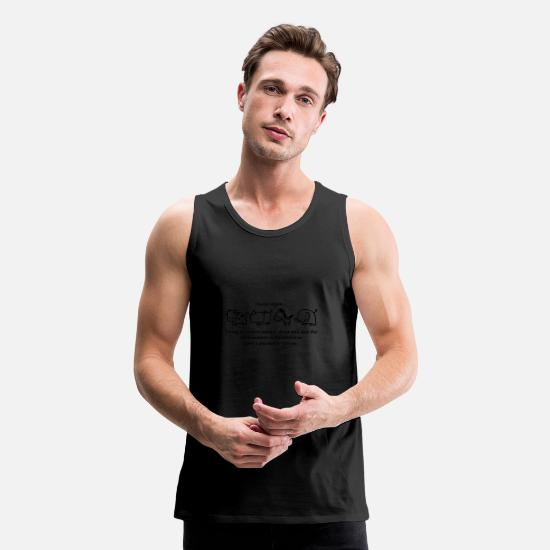 Reduced Tank Tops - damn vegan trying to reduce animals abuse and save - Men's Premium Tank Top black