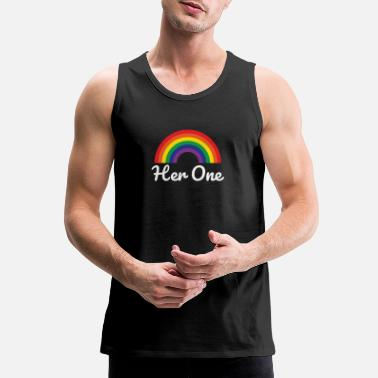 Couple Cute Her One T-Shirt - Men's Premium Tank Top