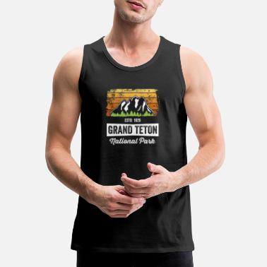 Park Vintage Grand Teton National Park TShirt Established 1929 - Men's Premium Tank Top