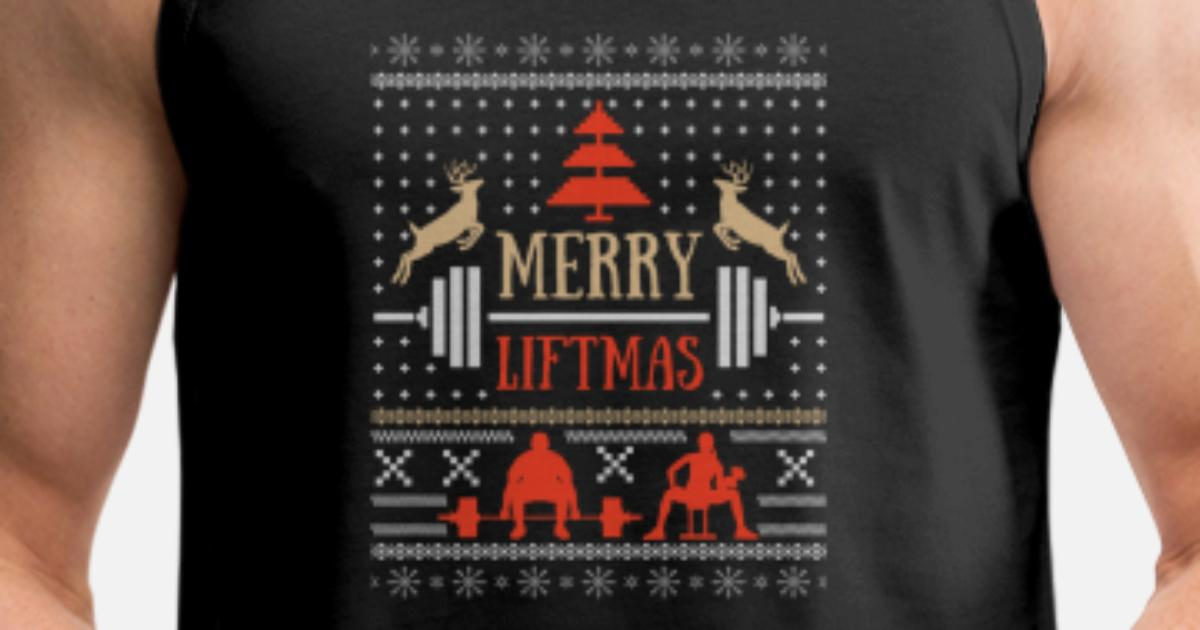 5c206f40 Weightlifting Christmas - Merry Liftmas Men's Premium Tank Top | Spreadshirt