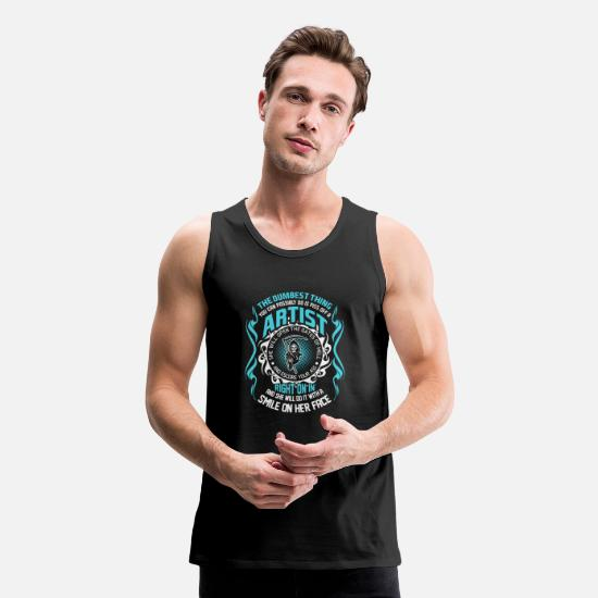 Artist Tank Tops - The Dumbest Thing You Can Possibly Do is Piss Off - Men's Premium Tank Top black