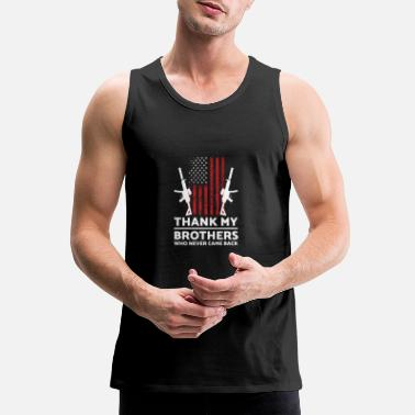 War Memorial Day Veterans Day USA U.S. Army America Mi - Men's Premium Tank Top