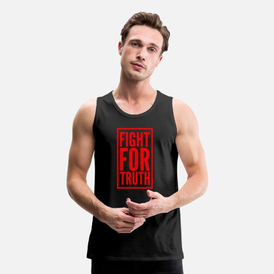 Bride Tank Tops - FIGHT FOR TRUTH - Men's Premium Tank Top black