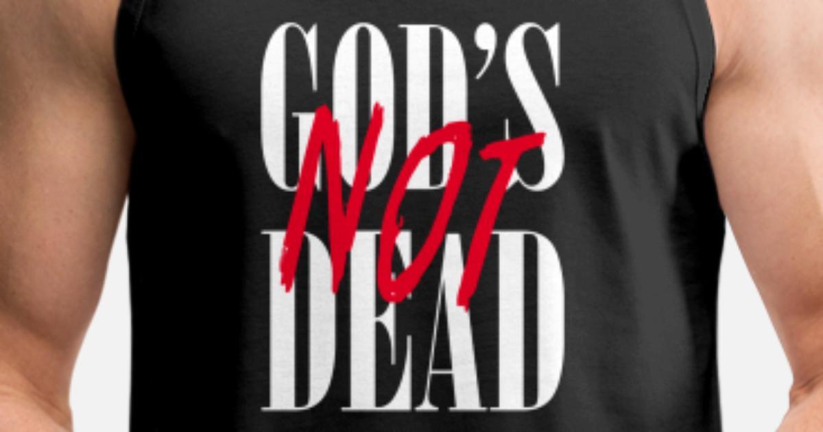 998a9a8289e0 Gods Not Dead Christian Jesus God Men's Premium Tank Top   Spreadshirt