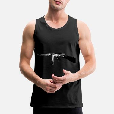 Gun Outline Thompson Tommy Gun submachine gun - Men's Premium Tank Top