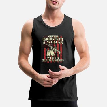 Badass Military Military - Military - a woman with a military ba - Men's Premium Tank Top