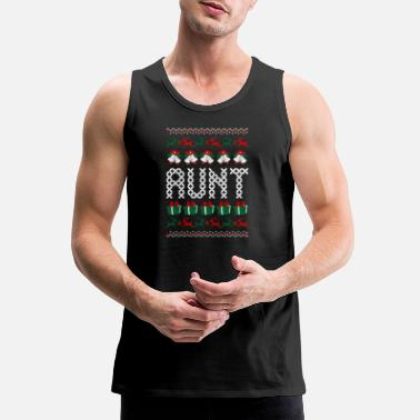 Ugly-christmas-sweater Aunt Ugly Christmas Sweater - Men's Premium Tank