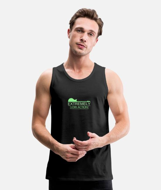 Guitar Tank Tops - Extremely Low Action - Men's Premium Tank Top black