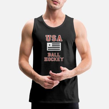 USA Ball Hockey Shirt - Men's Premium Tank Top