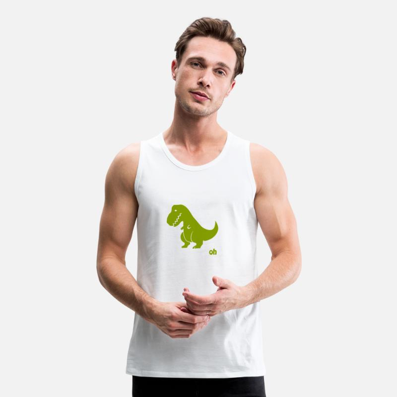 f4a81e83fc51e Funny - t-rex if you re happy Men s Premium Tank Top