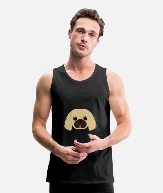 Daily Tank Tops - Dog icon - Men's Premium Tank Top black