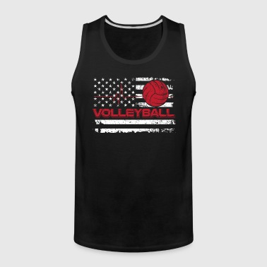 Volleyball/American Flag/Volley Ball/Player/Sports - Men's Premium Tank