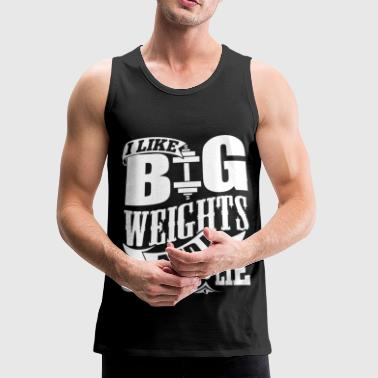 Funny Gym Weights Quotes - Men's Premium Tank