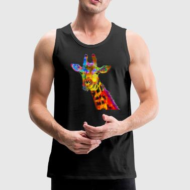 Colorful Giraffe - Men's Premium Tank