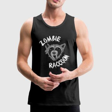 Funny Cute Scary Zombie Racoon - Men's Premium Tank