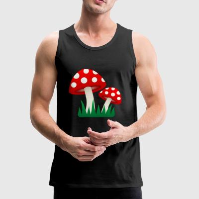 Grassy Shrooms - Men's Premium Tank