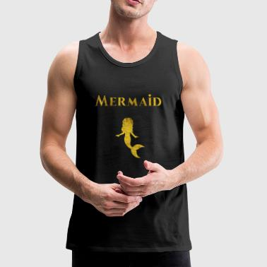 Mermaid Couple Partner Love Gift Chrismas - Men's Premium Tank