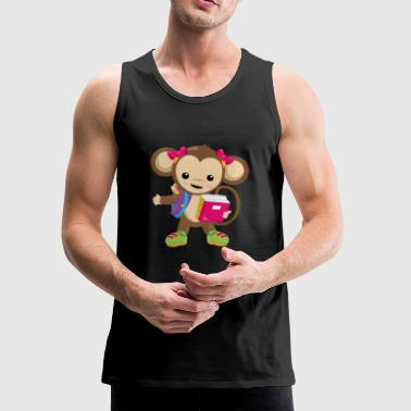 SCHOOL MONKEY GIRL 05 - Men's Premium Tank