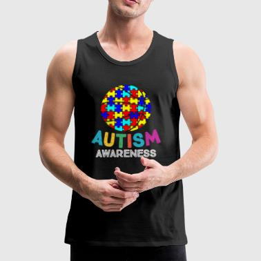 Autism Awareness Basketball - Men's Premium Tank