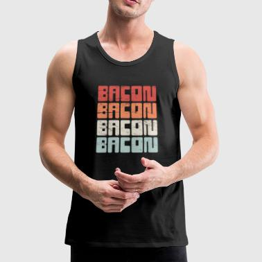 Vintage 70s BACON Text - Men's Premium Tank