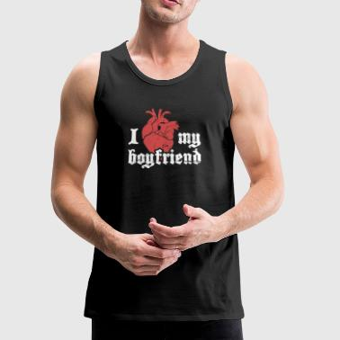 I Love My Boyfriend | Cute Punk Rock Design - Men's Premium Tank