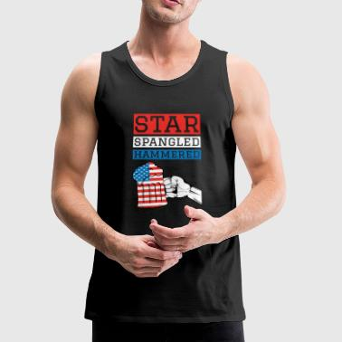 Star Spangled Hammered 4th Of July Drinking Shirt - Men's Premium Tank